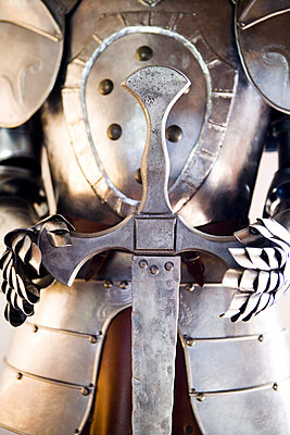 Close-up of a suit of knight - p4550655f by GUSK