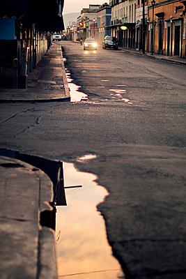 Street in a small town - p567m667558 by Benjamin Colombel