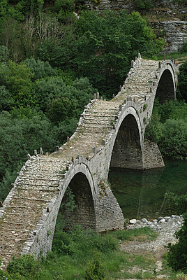 Kalogeriko Bridge, Kipi, one of the Zagoria Villages, Epirus - p8550084 by Natalie Tepper