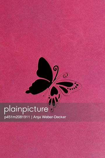 Ausgeschnittener Schmetterling - p451m2081911 von Anja Weber-Decker