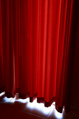 Curtains at a hotel, Thassos Island, Greece (Grekland). - p348m733925 by Niclas Andersson