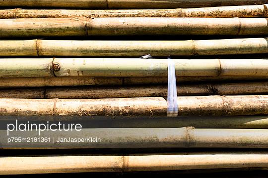 Bambusstapel - p795m2191361 von JanJasperKlein