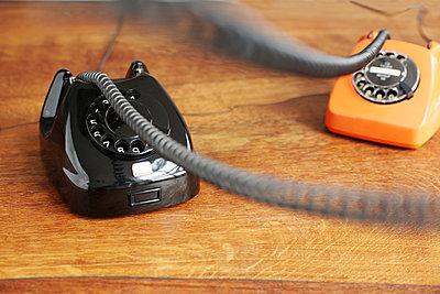 Telefon mit Wählscheibe - p214m1000347 von hasengold