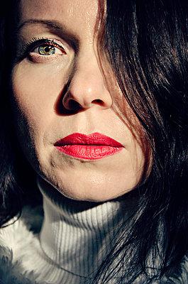 Close up of beautiful woman  - p577m2055204 by Mihaela Ninic