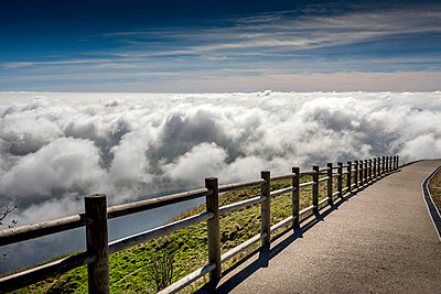 Way through the clouds, France, Auvergne. - p813m1082914 by B.Jaubert