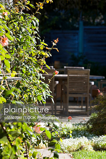Wooden Outdoor Dining Table and Chairs - p5550706f by LOOK Photography