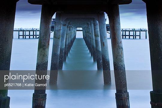 Deal pier, in the coastal resort of Deal - p6521768 by Katie Garrod