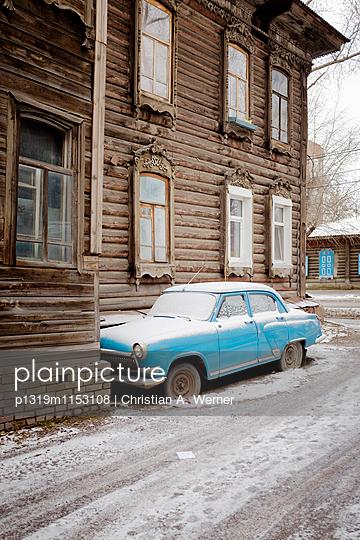 Winterszenerie in Tomsk, Sibirien - p1319m1153108 von Christian A. Werner