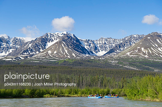 Rafters on the Alsek River