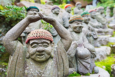 Statues in Daisho-in Buddhist temple, Miyajima Island, Hiroshima Prefecture, Honshu, Japan, Asia - p871m962065 by Christian Kober