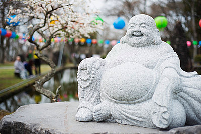 Statue, Gwaneumsa Buddhist Temple, Jeju Island, South Korea, Asia - p871m998734 by Christian Kober