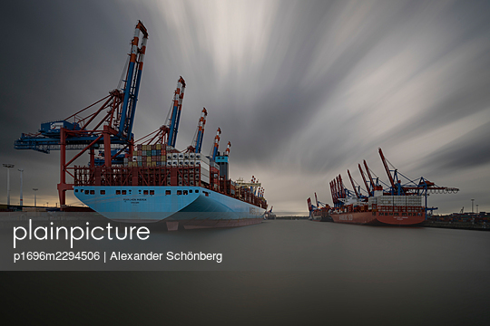 Container harbour - p1696m2294506 by Alexander Schönberg