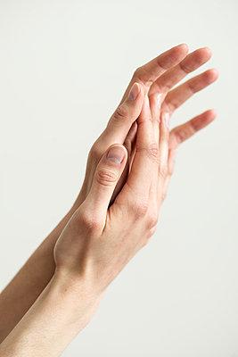 Folded hands of woman - p1041m1042349 by Franckaparis