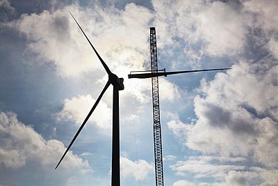 Wind turbine being erected - p429m1021803f by Moof
