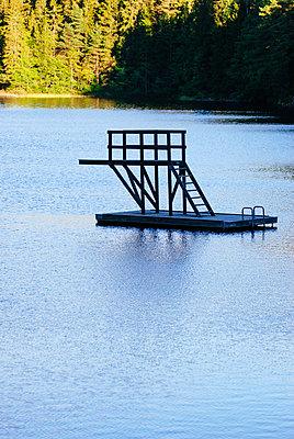 Diving platform - p1053m957745 by Joern Rynio