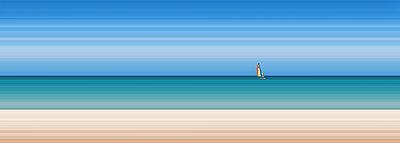 Segel in der Ferne - p1653m2232308 von Vladimir Proshin