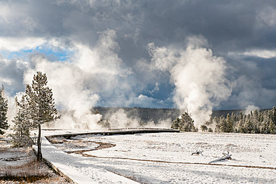 Yellowstone National Park, UNESCO World Heritage Site, Wyoming, United States of America - p871m2101255 by Jordan Banks