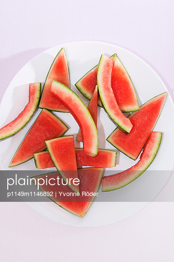 Leftovers of a watermelon - p1149m1146892 by Yvonne Röder
