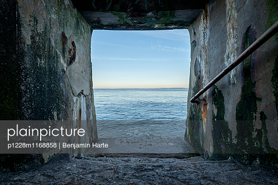 Hole in sea wall - p1228m1168858 by Benjamin Harte