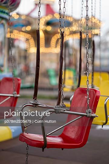 Fairground ride seat - p378m2235479 by Colin Hutton