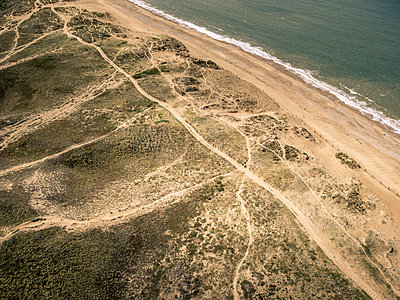 France, Sea and dunes - p1402m2291358 by Jerome Paressant