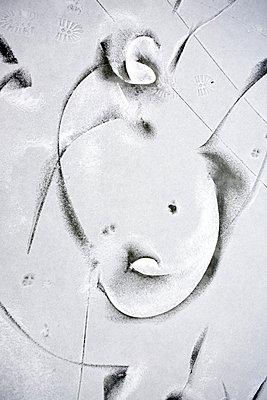 Spuren formen Gesicht - p4350090 von Stefanie Grewel