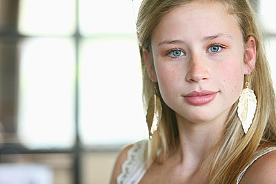 Portrait Of A Teenage Girl; Troutdale Oregon United States Of America - p44213489f by Colleen Cahill