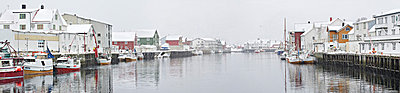 Fishing village in Winter - p575m664144 by Mikael Svensson