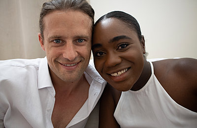 Portrait of multi ethnic couple - p1640m2259995 by Holly & John