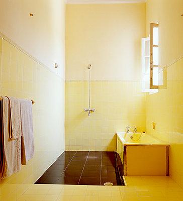 Yellow bathroom - p1082m2205929 by Daniel Allan