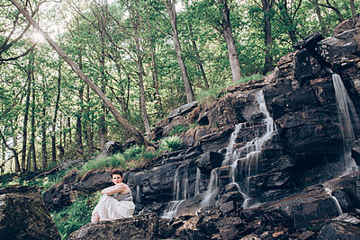 By the waterfall - p1507m2092593 by Emma Grann