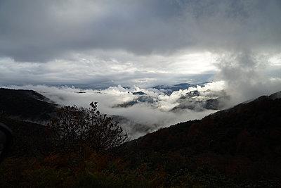 Mountain landscape in Ardeche, France - p1610m2181470 by myriam tirler