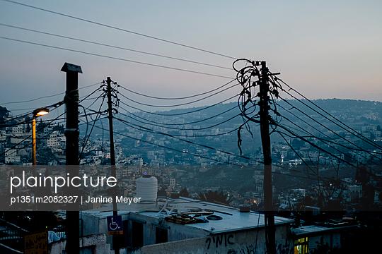 Pylon over Jerusalem - p1351m2082327 by Janine Meyer