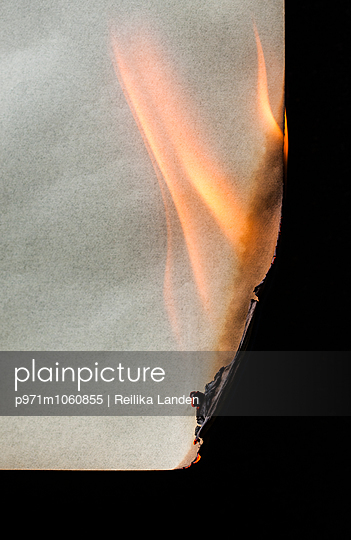 Burning paper - p971m1060855 by Reilika Landen