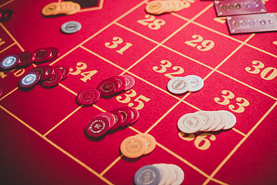 Roulette table - p1345m2055603 by Alexandra Kern