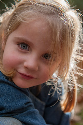 Child in autumn - p830m881210 by Schoo Flemming