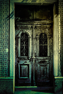 Old Lisbon Doorway - p1072m1056637 by miguel sobreira