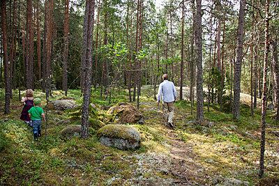 Spaziergang im Wald - p712m1160011 von Jana Kay