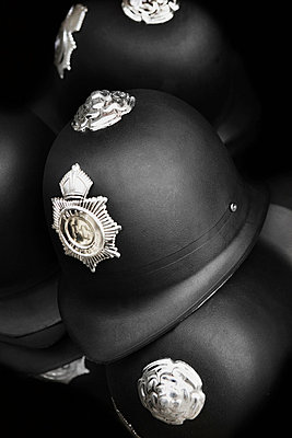 Helmets of the English police. - p312m672792 by Bruno Ehrs