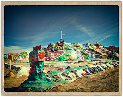 Salvation Mountain - p1154m1138596 by Tom Hogan