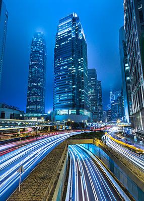 Hong Kong Central IFC at night, Hong Kong, China - p300m2114384 by hsimages