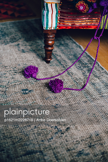 Purple pompoms - p1621m2228718 by Anke Doerschlen