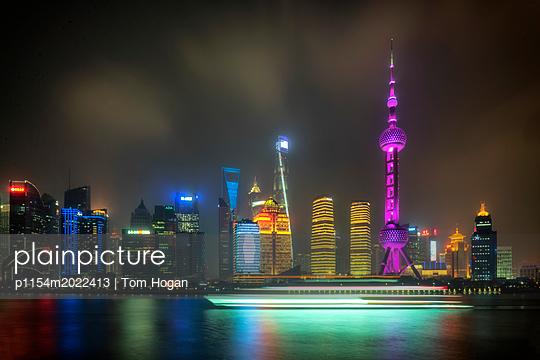 Shanghai Skyline Number 1 - p1154m2022413 by Tom Hogan