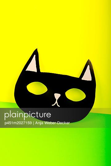 Fledermauskopf aus Pappe - p451m2027159 von Anja Weber-Decker