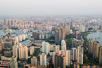 Shanghai from above - p795m1161276 by JanJasperKlein