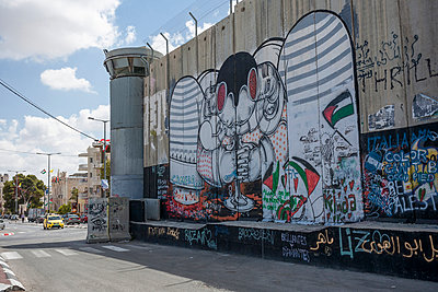 Border in Bethlehem - p741m929353 by Christof Mattes