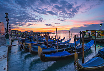 Gondolas in San Marco, Venice, UNESCO World Heritage Site, Veneto, Italy, Europe - p871m1006266f by Christian Kober