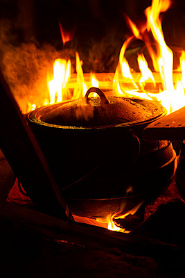 Cooking On An Open Fire - p1655m2288478 by lindsay basson