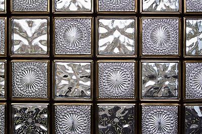 Close-up of glass blocks - p7390162 by Baertels