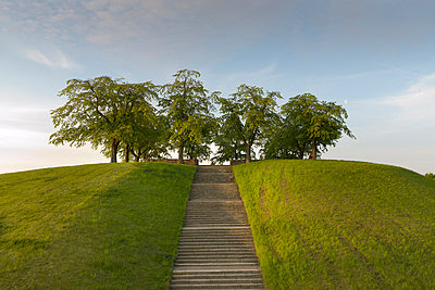 View of stairs with hill - p31228541f by Stefan Ortenblad